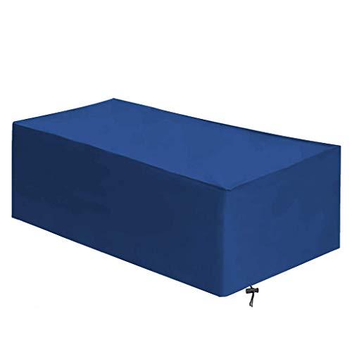 ZHML Garden Furniture Covers, Garden Sofa Covers, Heavy Duty Rectangular 420D Oxford Fabric Waterproof Patio Furniture Covers, Windproof, Dustproof, Anti-UV