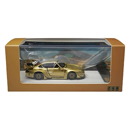 Boutique 1:64 para Garantía RWB Gold 993 Targa Ricko, Modificación Cuerpo Ancho, Simulación, Aleación, Colección Modelos Coche Completamente Abiertos