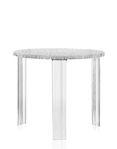 Kartell T-table Side Table d'appoint, 44cm, cristal