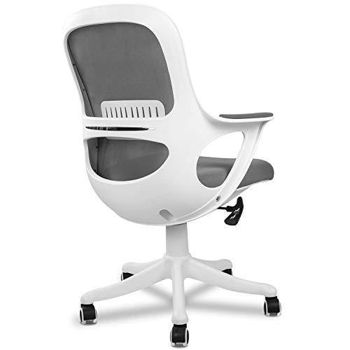 DEVAISE オフィスチェア デスクチェア 最大約30°ロッキング 肘掛の高さ:62~72cm デスク下に収納可能 高弾力メッシュ 通気性 肉厚クッション 静音PUキャスター PP0118A