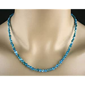 Apatit Kette – Collier in blau, 40ct.