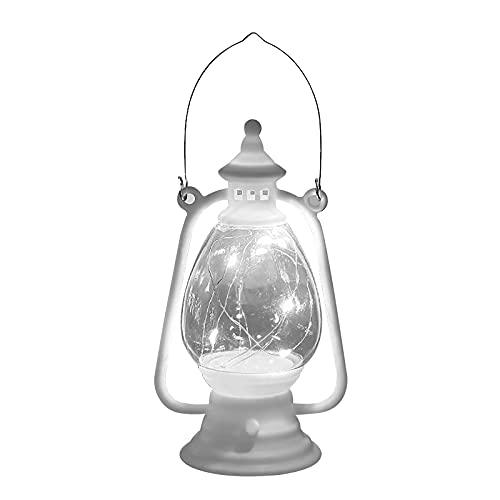 Betos Mini linterna retro de decoración, luces de decoración de fiesta, linterna de luz antigua para Halloween, decoración de Halloween, luz blanca cálida, funciona con pilas, linterna con interruptor
