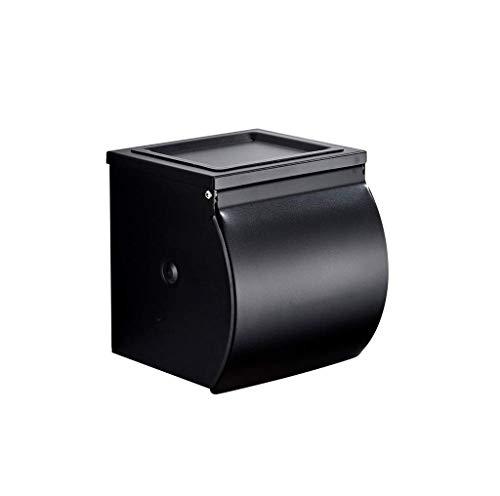 CHUTD Toilettenpapierhalter Space Aluminium Wasserdicht Wandeinbau Verchromt Mit Deckel Und Abnehmbarem Regal Rostfrei Toilettenpapierhalter