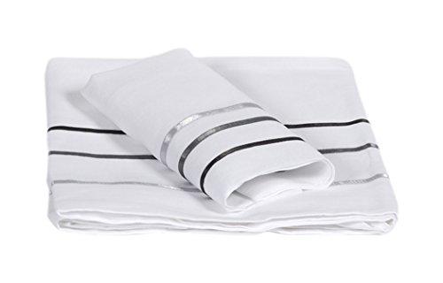 Lait Baby lflevl voie lactée Drap et taie d'oreiller pour lit, blanc/gris, 110 x 190/40 x 60