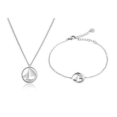 PAUL HEWITT Geschenk für Frauen Perfect Match - Frauen Geschenk Box Set (Sail Away Kette und Armkette), Freundin, Mama oder Schwester