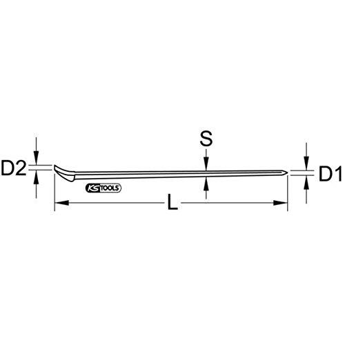KS Tools 9643201 acier inoxydable ongles Fer, 300 mm
