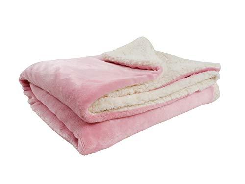 CB Home & Style Baby-Decke Sherpa 100 x 150 cm Kuscheldecke (Rosa)