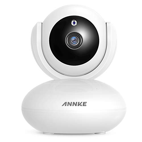 ANNKE 1080P IP Camera, Smart Wireless Pan/Tilt Home Security Camera, APP Alarm Push, Two-Way Audio, Support 64GB TF Card, Cloud Storage Available, Work with Alexa