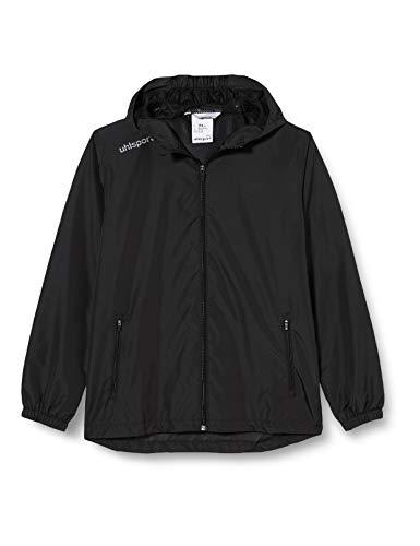 uhlsport Herren Essential Regenjacke Fussball Trainingsbekleidung, schwarz/weiß, XL