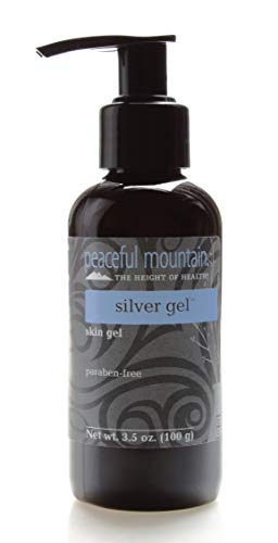 Peaceful Mountain Silver Gel - Colloidal Silver Gel with Soothing Aloe Vera - Soothe & Revitalize Skin - Non-Greasy, Fragrance-Free, and Alcohol-Free - 3.5 oz.