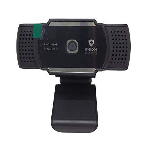 Webcam 1080P Foco Automático KE-WBA1080P, Kross Elegance, Preto