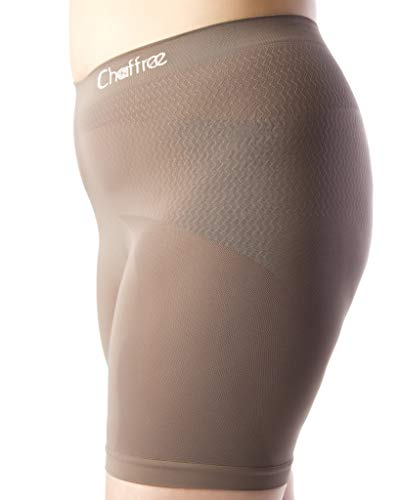 Chaffree Womens Anti Chafing Long Leg Briefs, Stop Thigh Rubbing Underwear 2XL, Truffle Brown