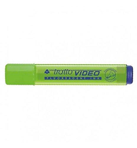 Evidenziatori Tratto Video 12 pezzi Verde Lime