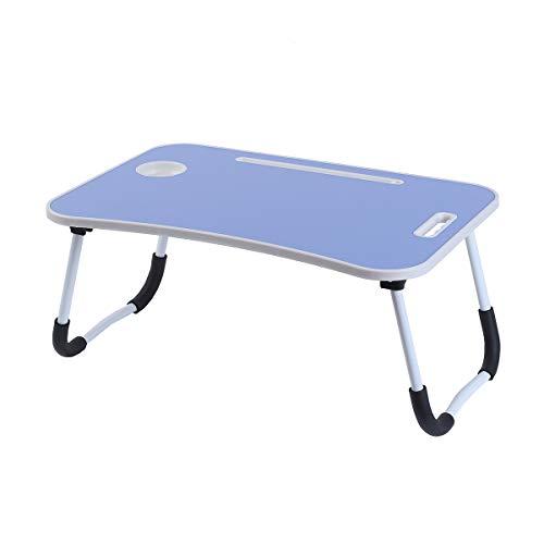 unycos - Klappbarer Computertisch, Betttablett, tragbarer Betttisch, Notenständer zum Lesen im Bett (Dunkelblau)