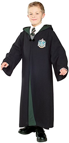 Harry Potter Slytherin School Fancy Robe Cloak Costume And Tie (Size M)