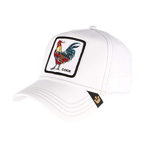Gorra Goorin Cock blanca para hombre y mujer, béisbol y Trucker – Unisex, blanco, Talla única