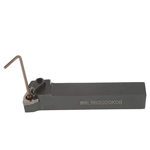 Soporte de inserto de torno, 1 pieza de soporte de herramienta de torneado de torno CNC MWLNR2020K08, soporte de cortador de herramienta para inserto WNMG0804 con inserto de carburo indexable y llaves