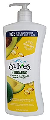 St. Ives Hydrating Body Lotion, Vitamin E and Avocado, 21 oz, Pack of 4