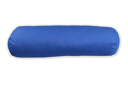 MERINO BETTEN Hochwertiger Nackenrollenbezug 15x60 | Kissenrolle | Bezug für Nackenrolle mit Reißverschluss (weitere verfügbar) (Blau)