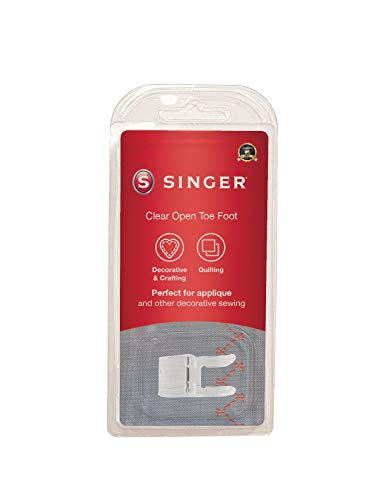 SINGER | Open Toe Foot Presser Foot, Underside Groove Allows Dense Stitches, Ribbons & Trims to Feed...