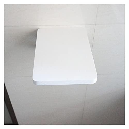 GHHZZQ Portable Escritorio Montado En La Pared Estante De Almacenamiento Mesa de Ordenador Plegable Mesa Plegable de Hoja Abatible Ahorro de Espacio (Color : White, Size : 30x70cm)