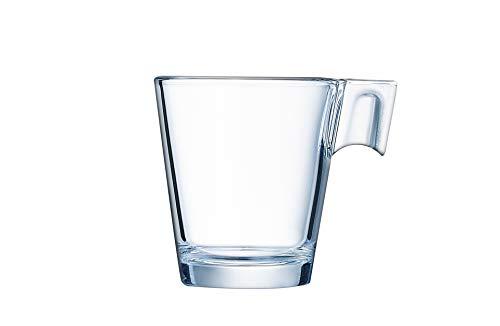 Arcoroc ARC C1360 Aroma Obertasse, Kaffeetasse, 80ml, Glas, transparent, 12 Stück