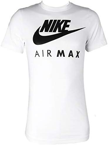 Nike Air Max - Camiseta Manga Corta Hombre Cuello Redondo Azul Marino