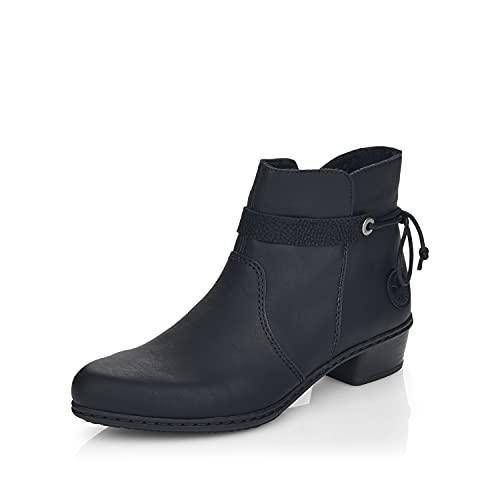 Rieker Damen Klassische Stiefeletten Y0782, Frauen Stiefeletten,flach,Women's,Woman,Ladies,Boots,Stiefel,Bootee,Booties,schwarz (01),38 EU / 5 UK