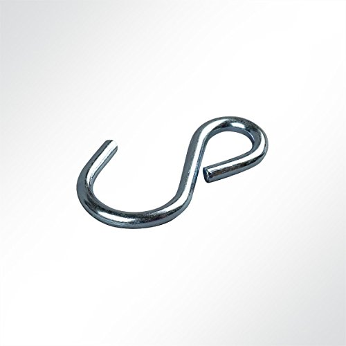 LYSEL S-Haken asymmetrisch, (L) 50mm in Grau/verzinkt (10 Stück)