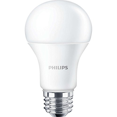 Philips 455717 LED Non-Dimmable A19 Frosted Light Bulb: 1500-Lumen, 5000-Kelvin, 14-Watt (100-Watt Equivalent), E26 Base, Daylight, 4-Pack
