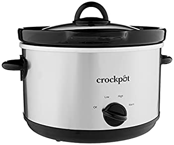 Crock-Pot SCR503SP 5-Quart Smudgeproof Round Manual Slow Cooker with Dipper Silver