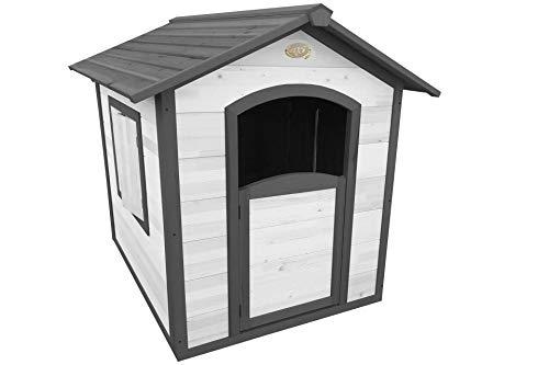 AXI Spielhaus Britt, Holz, grau/weiß, Gartenhaus, Kinderspielhaus, Holzhaus für Kinder