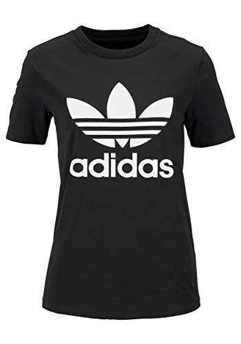 adidas Trefoil Logo - Camiseta para Mujer Negro 36