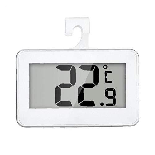 Tuimiyisou refrigerador Temperatura termómetro Digital Resistente al Agua Wireless frigorífico congelador de -20 a 60 Grados Gran Pantalla LCD