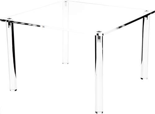 Plymor - Elevador de exhibición rectangular de acrílico transparente de 4 patas