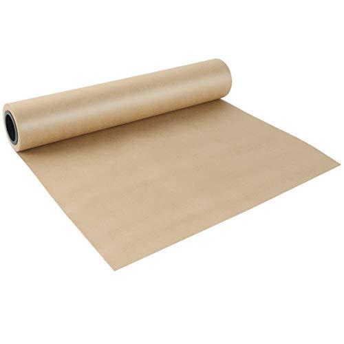 jojofuny Kraftpapierrolle Braun Geschenkpapier für Geschenkverpackung Kunsthandwerk Postverpackung Versand Bodenbelag Stau Paket Paket Läufer (Braun)