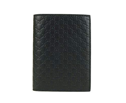 Gucci Women's Black Microguccissima Leather Wallet Passport Holder 496948 1000