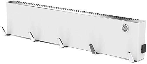 SQQSLZY Calentador de Toallas de Pared-Punch Libre, de Dos velocidades del Viento/Temperatura Constante/Low Decibel Trabajo, (Size : White)