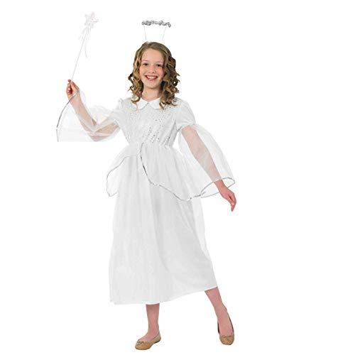 Fun Shack Déguisement de Fée pour Enfant Costume Ange Blanc pour Fille - Taille M