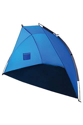 Mountain Warehouse Tente d'abris de Plage Protection UV - 200cm (L) X 120 cm (L) X 120 cm (H) Coupe-Vent Sun Tente, abri Soleil Polyester léger - pour la Plage Turquoise Taille Unique