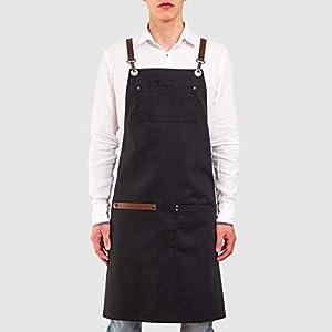 APRONISTA Barista Schürze für Männer mit intelligentem Handtuchhalter Schürzen für Barkeeper Personalisierte Schürze…