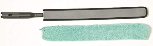 Rubbermaid Commercial Products Commercial HYGEN Quick Connect Flexible Dusting Wand with Microfiber Sleeve - Black
