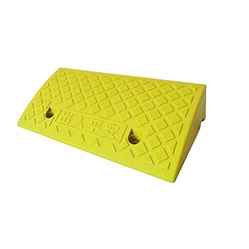 Hospital Rollstuhlrampen for die Schritte an der Tür, tragbare Anti-Rutsch-Uphill Mat Keller Schwelle Curb Ramps Pet Rampen (Color : Yellow, Size : 50 * 27 * 13CM)