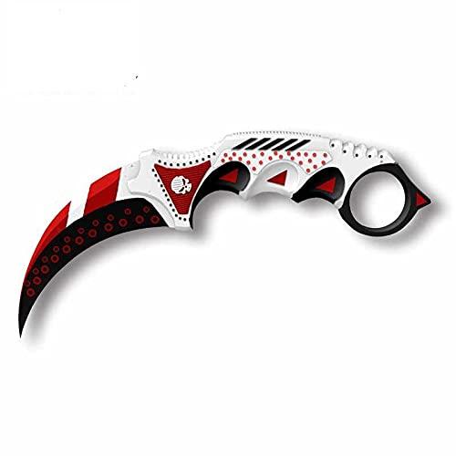 A/X Calcomanías de Vinilo de 13 cm 4,6 cm para CS GO Karambit Knife Marble Fade Pegatinas de Coche