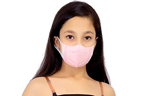 100% CE FDA Certified Anti Pollution, Anti- Bacterial, Anti-Virus, face with Non Woven Ultrasoft Stretchable Elastic, 3D Disposable UNISEX face mask with 3 Layer protectionfor Boys Girls Children(Pack of 10Mask)