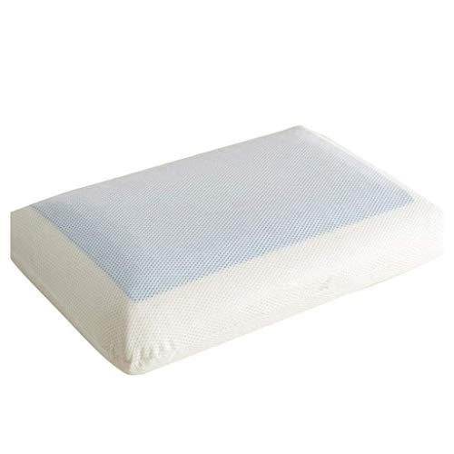 Almohada de soporte de cuello, almohada cervical de espuma de memoria firme con gel de enfriamiento Almohada reversible de cama ortopédica for dormir Incluye cubierta de almohada extraíble (color: 2,