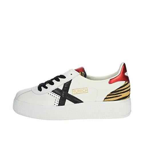 Munich Scarpe Donna Sneaker MOD. Barru Sky in Pelle Bianco Rosso 038 DS20MU07