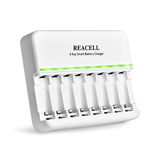 REACELL 8-Ladefach AA AAA Smart Batterieladegerät Akku ladegerät für NI-MH NI-CD Mignon AA Micro AAA NiMH Akku Wiederaufladbar Batterien Batterie Ladegerät