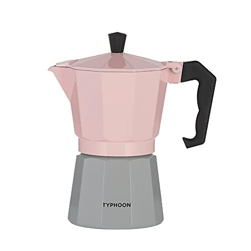 Typhoon Cafe Concept 1401.795 - Cafetera de café (6 tazas), color rosa y gris