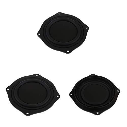 perfk 3pcs 4 Zoll Bass Lautsprecher Passiv Gummi Vibrationsplatte Bassverstärkungsmittel